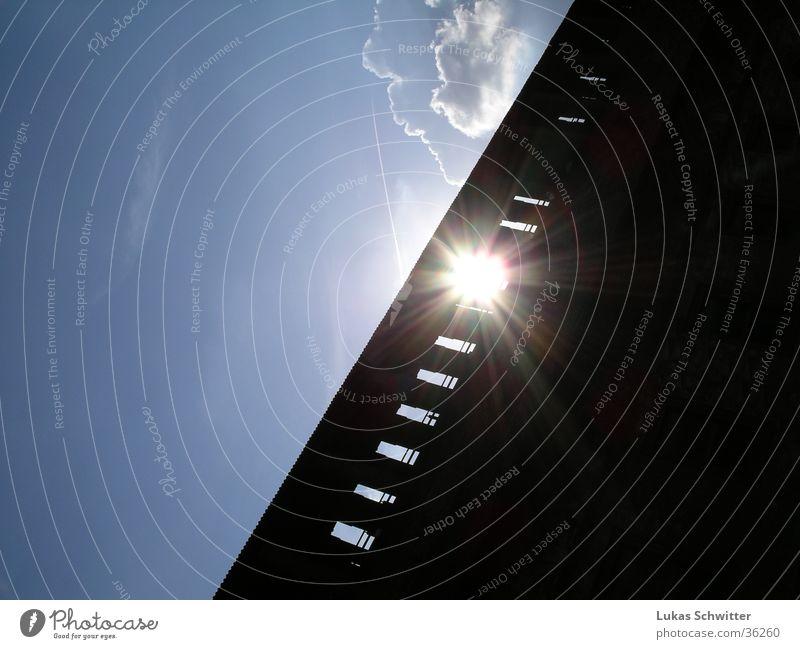 Solar wall Milan Evening sun Wall (barrier) Visual spectacle Europe castello Sun