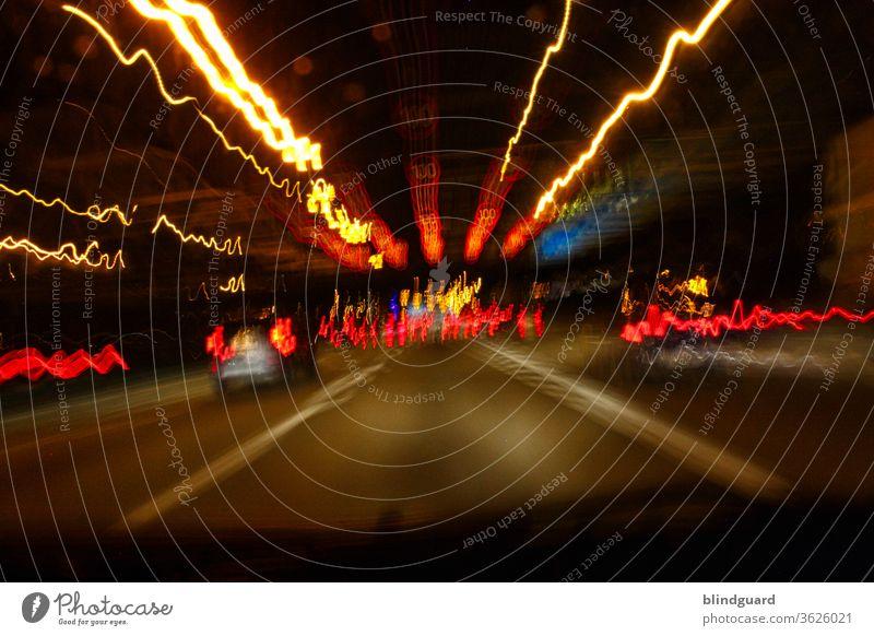 Saturday Night Is Alright For Party Light (Natural Phenomenon) Long exposure Transport Road traffic Evening Dark Motor vehicle Car Street Highway
