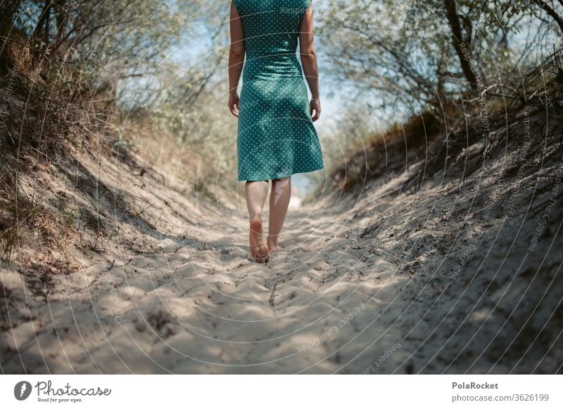 #A# Woman on her way to the Baltic Sea beach Lanes & trails Baltic coast Baltic beach Baltic Sea holiday Baltic island Baltic resort Baltic sand Beach