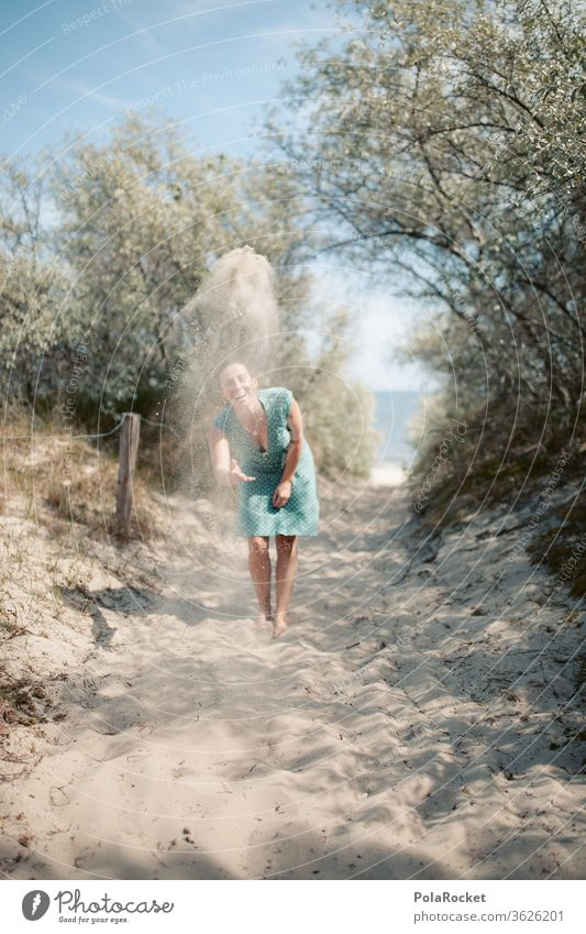 #A# Baltic Sea sand on flying II Trip frisky Comical muck about fun Funster Throw Particle Sandy beach Dreamily Baltic coast Future Water Walking