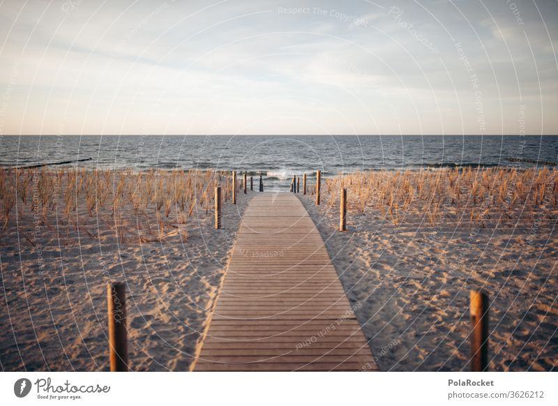 #A# Baltic Sea coast Landscape Water Colour photo Mecklenburg-Western Pomerania Sky Sand Exterior shot Nature Tourism Vacation & Travel Ocean Idyll Relaxation