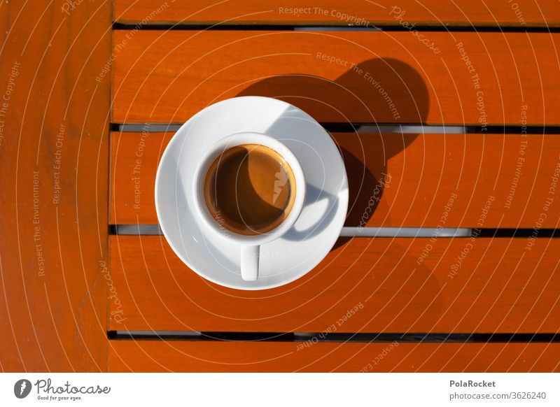 #A# Table in coffee colors Coffee Espresso Cup Café Coffee cup Cappuccino Beverage Hot drink Breakfast Colour photo Close-up To have a coffee Coffee break