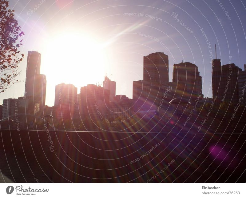 Skyline of Melbourne High-rise Australia Sun Town