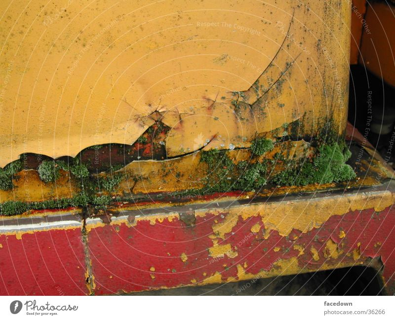 Old Red Yellow Industry Rust Machinery Moss Varnish Desolate