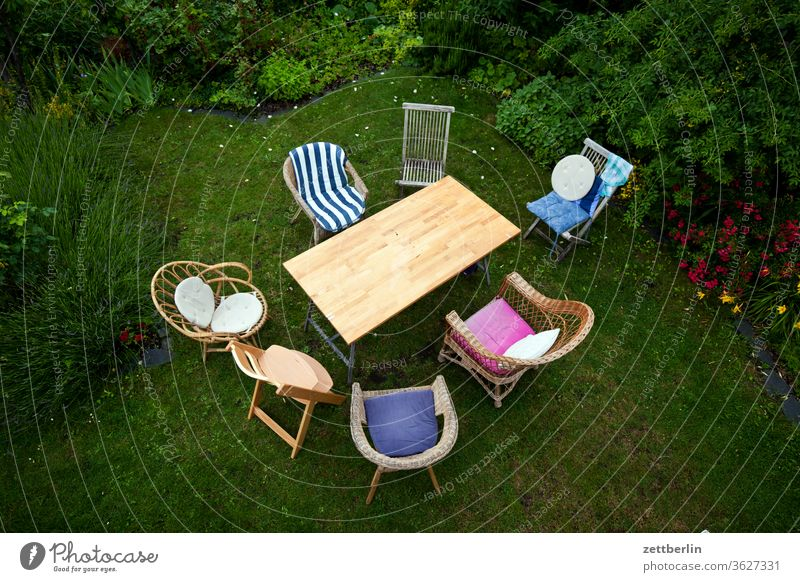 Seven chairs and a table chair circle Chair Relaxation Table Family holidays Garden Outdoor furniture garden party fellowship conversation Grass allotment