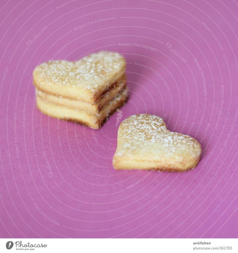 quadruple heart Dough Baked goods Cookie Nutrition Sign Heart Fragrance Friendliness Fresh Beautiful Sweet Violet Emotions Happy Joie de vivre (Vitality)