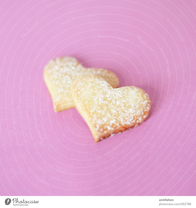 double-hearted Dough Baked goods Cookie Confectioner`s sugar Nutrition Gift Sign Heart Baking tin Fragrance Healthy Delicious Positive Beautiful Violet Pink