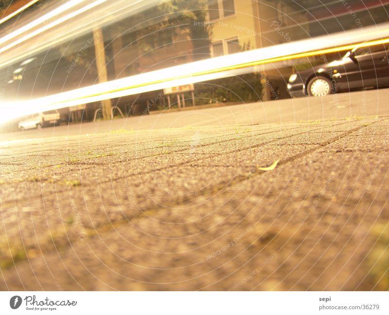Fast night Night Tails In transit Long exposure Spontaneous Transport Bus