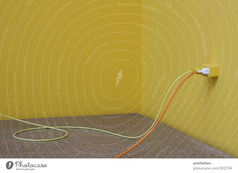 Yellow Wall (building) Gray Line Art Orange Room Energy industry Esthetic Electricity Corner Floor covering Cable Round Positive Museum