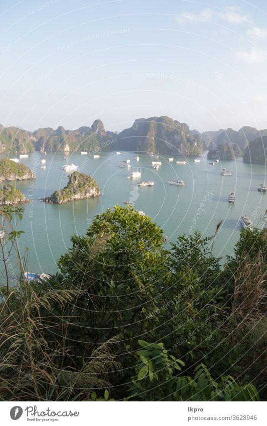 the beauty of amazing nature tourist destination vietnam sea bay asia travel water halong landscape ocean island rock boat vacation seascape tourism mountain