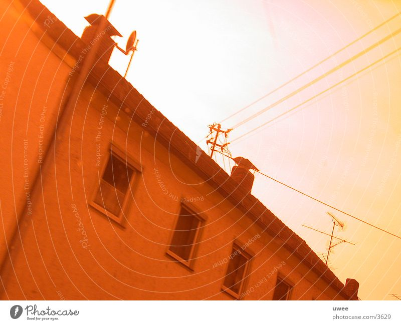 wired house House (Residential Structure) Bavaria Red Architecture Cable Tilt