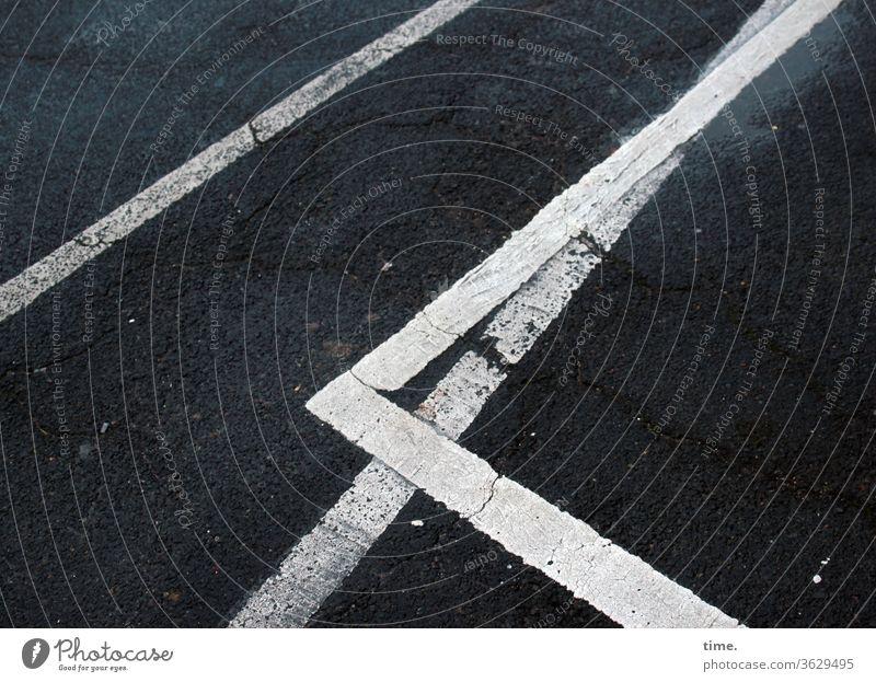 baselines (6) Baseline Street Asphalt Gray Bird's-eye view White Stripe worn-out Tar Mathematics Design