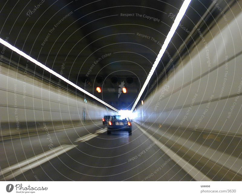 the end of the tunnel Tunnel Speed Acceleration Passage Transport Manmade structures Street Car Sweden Denmark Line hollow
