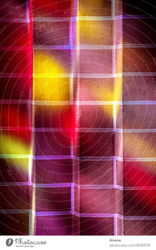 incidence of light Light (Natural Phenomenon) Stained glass window Church window Column Reflection Mysterious Chapel Stone Religion and faith Sign Colour Belief
