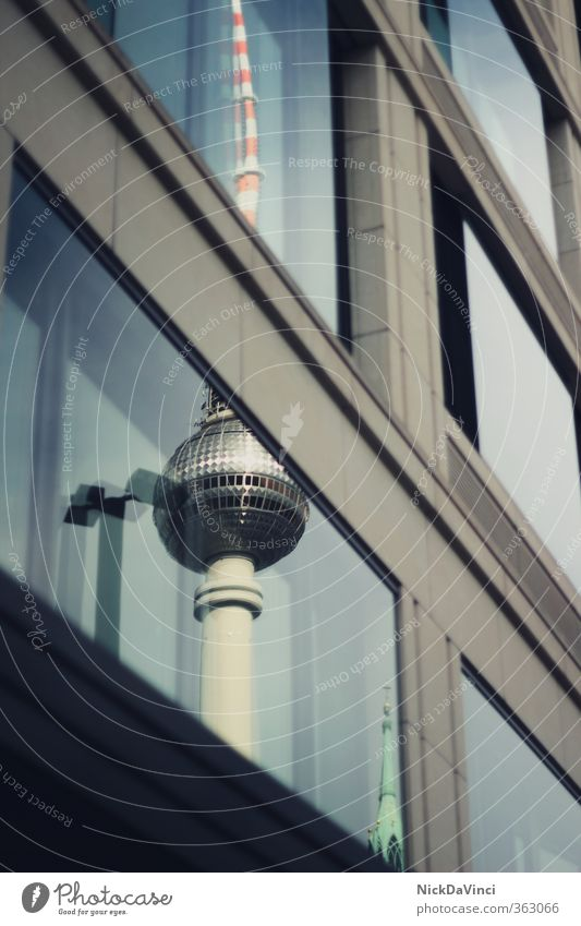 Vacation & Travel City Window Architecture Berlin Building Facade Stand Trip Technology Tower Culture Manmade structures Television Long Skyline