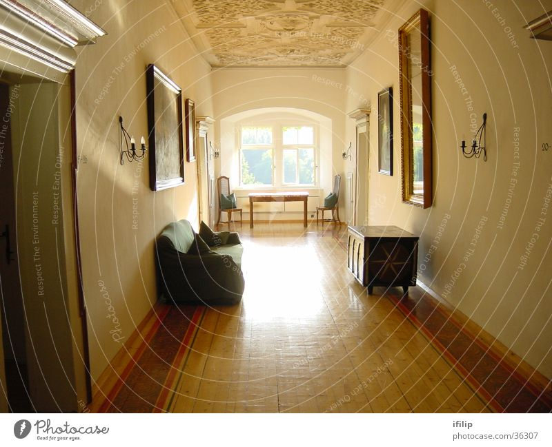 Moosburg Castle Window Light Chest Federal State of Kärnten Historic Corridor Interior shot