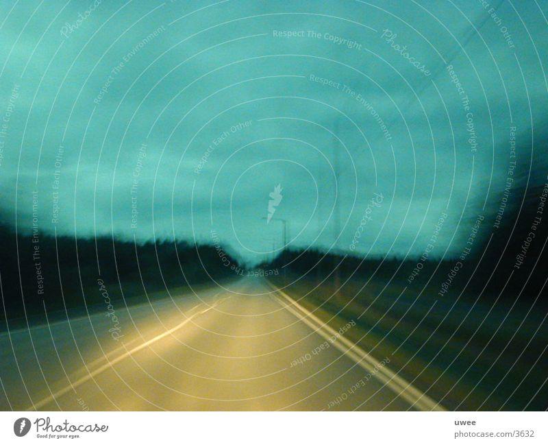 Street Dark Movement Landscape Gloomy Driving End Finland Scandinavia