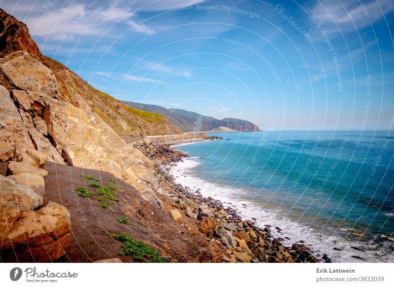 Exclusive mansions at Malibu beach at the Pacific Coast Highway malibu california coast ocean sand sea water sky summer usa blue landscape travel angeles
