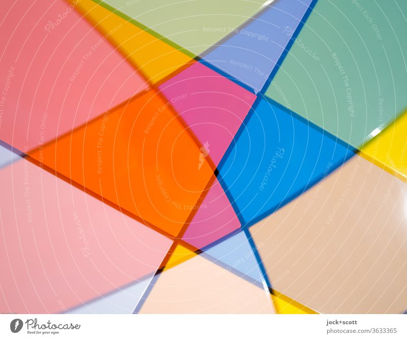 Shapes, colours with verve Abstract Structures and shapes Pattern Illusion Play of colours Surface Reaction Detail Illustration Background picture Inspiration