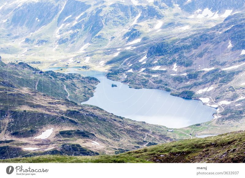 View of the Giglachalm and the Giglach lakes. giglax lake mountain lake mountainous Landscape Lake Hiking Mountain Exterior shot Nature Vacation & Travel Alps