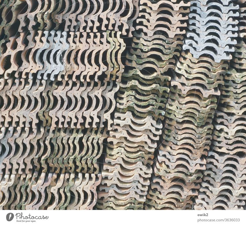 Working group brick stones Old Many Structures and shapes stacked Heap Stack quantity Deserted Pattern Colour photo Detail Exterior shot Abstract Arrangement