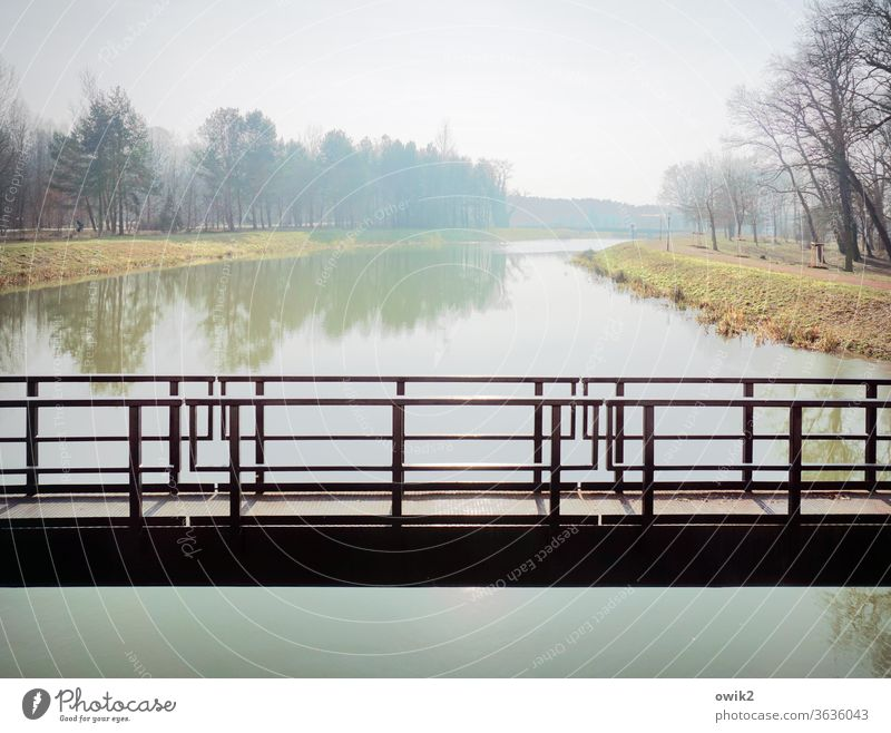 Channel full bridge Panorama (View) Reflection Day Copy Space bottom Copy Space top Copy Space right Exterior shot Colour photo Horizon Far-off places Idyll