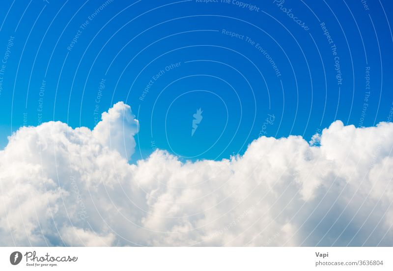 White clouds on blue sky air white nature background weather heaven bright beautiful light cloudscape high beauty day cloudy color summer sunlight space fluffy