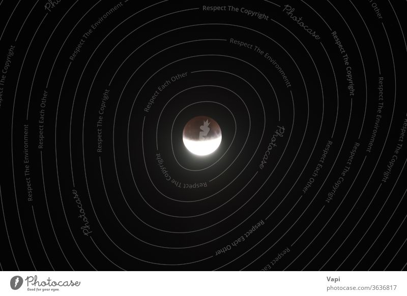 Lunar moon half eclipse night lunar space astronomy astrology dark orbit sky planet light full solar satellite nature cosmos crater earth surface background