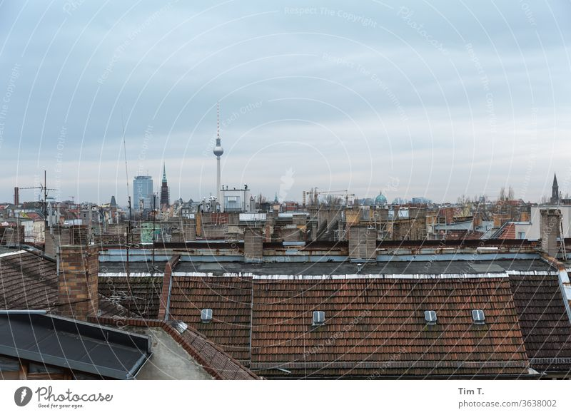 Karlsson on the roof Berlin Prenzlauer Berg 2019 Roof Television tower Old building Town Downtown Capital city Old town Exterior shot Day Deserted