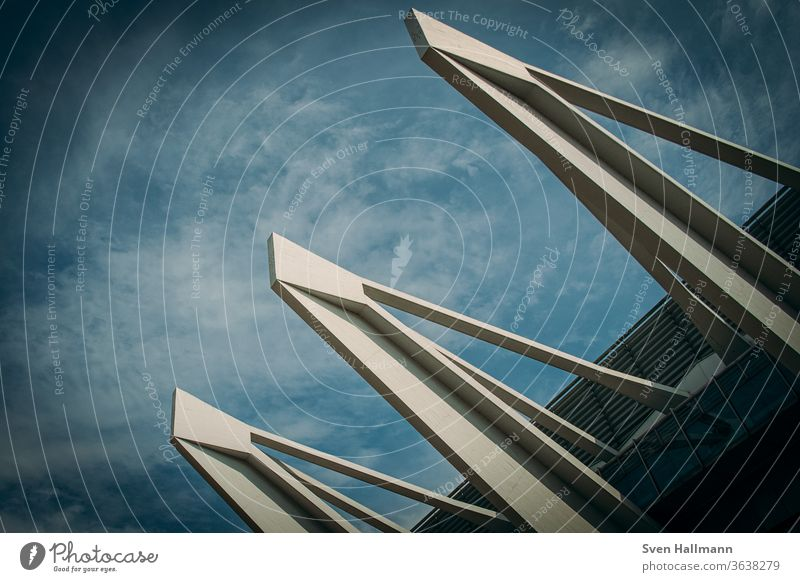 Modern architecture Architecture Facade Arrangement Abstract Symmetry Esthetic Light Structures and shapes Deserted architectural photography Surrealism