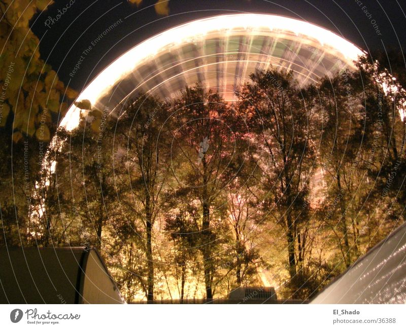 Flying_Circle Ferris wheel Rotation Tree Dark Long exposure Leisure and hobbies Movement