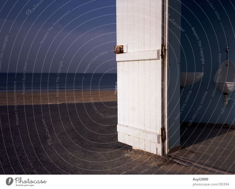 morning air Atlantic Ocean White Sink Europe Blue Door Toilet Sun