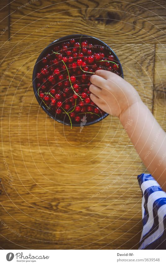 Child reaches with his hand for fresh berries Berries by hand hands Fingers Toddler Healthy Eating vitamins Organic produce Delicious Vitamin-rich