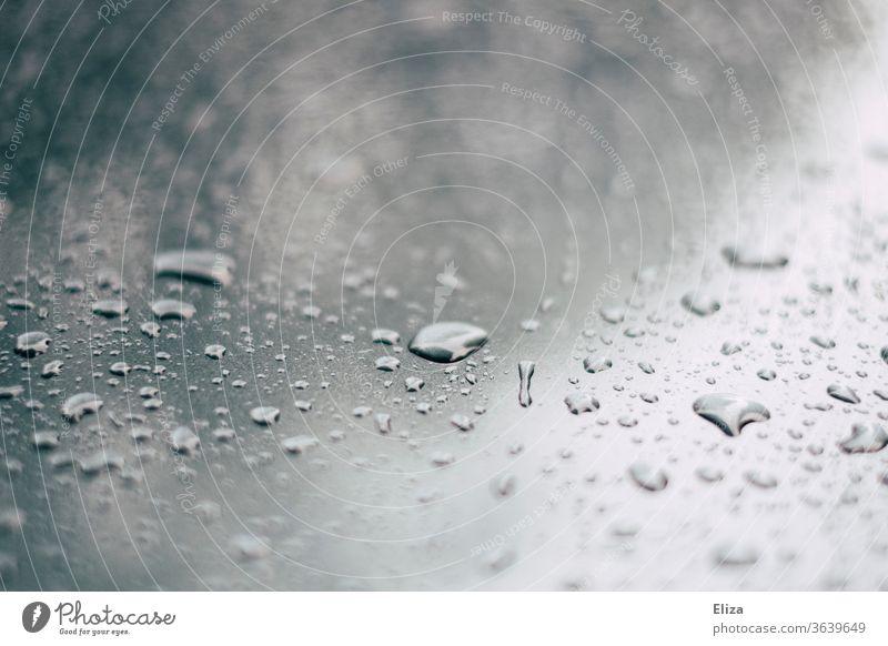 water drops Water Drops of water Slice Metal roll off Wet Rain Damp