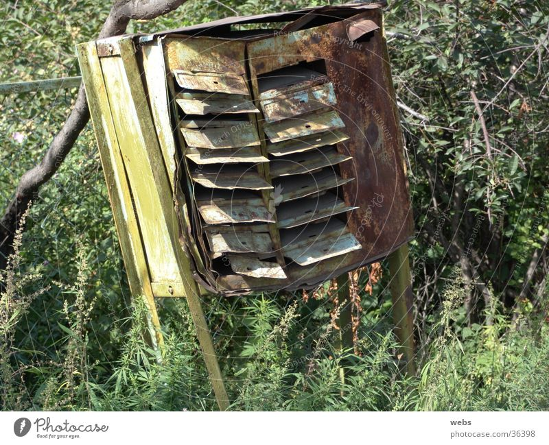 Old Green Broken Living or residing Rust Mail Iron