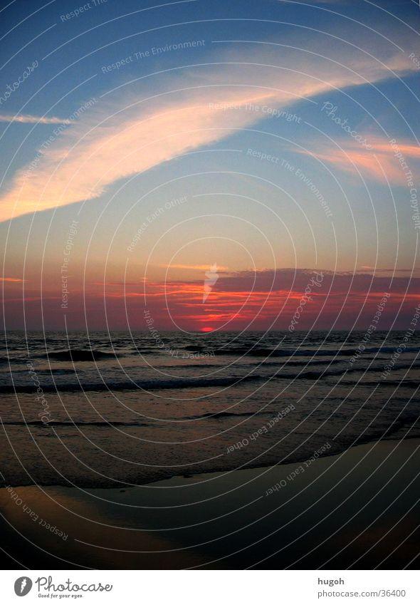 sunset_01 Ocean Beach Sunset Sky Idyll