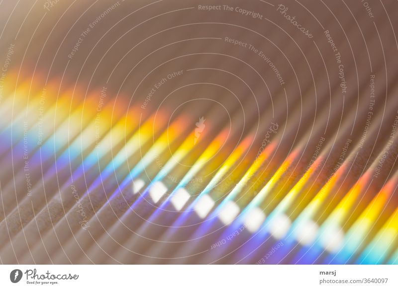 Coloured highlights on waves Rainbow Prismatic colors Harmonious Illuminate Fantastic Multicoloured Discover Colour photo Detail Light (Natural Phenomenon)