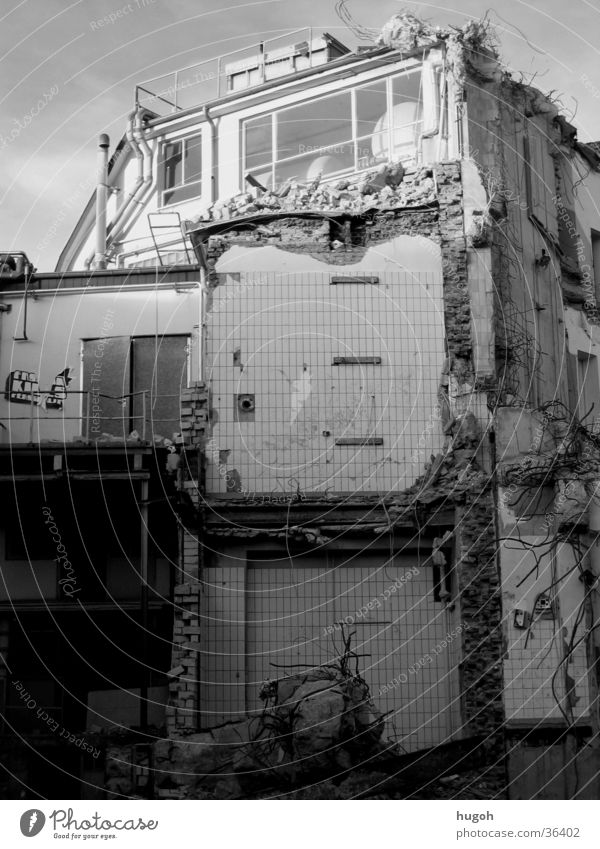 City House (Residential Structure) Architecture Construction site Destruction Dismantling
