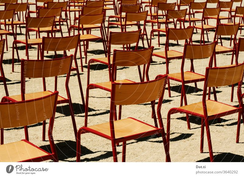 Take a seat chairs - outdoor Chair rows Event Outdoor festival Sit Seating capacity Many