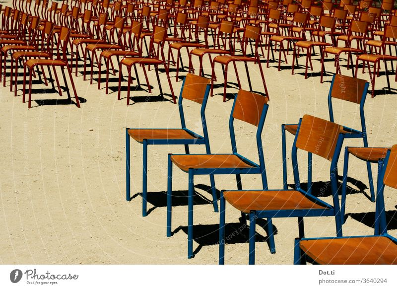 take another seat chairs - outdoor Row of chairs Event Outdoor festival Many Seating capacity