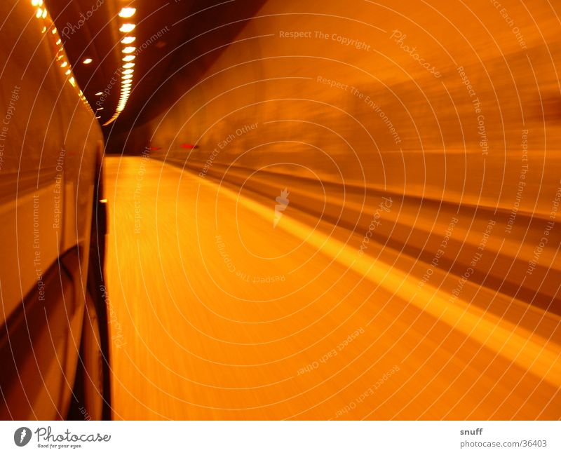 Car Transport Speed Highway Tunnel