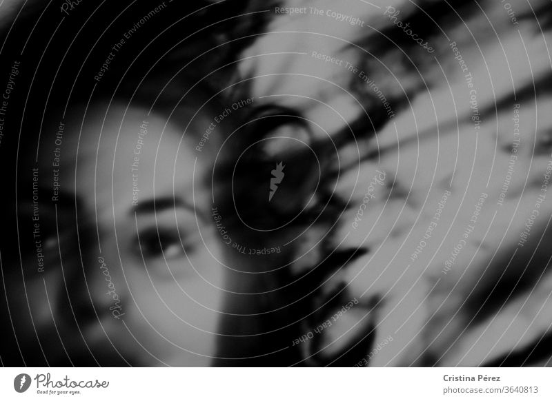 No more. Black & white photo Self portrait Portrait photograph Face Looking Woman Human being Shadow