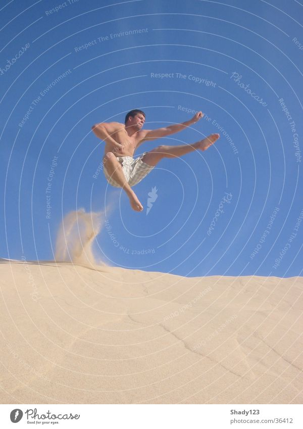 Man Vacation & Travel Sand Jump Air Martial arts