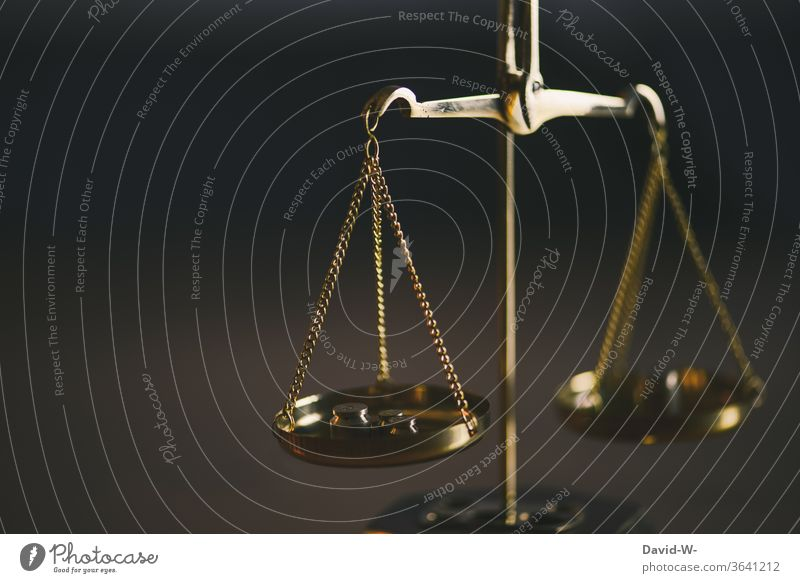 Scale - comparison of two sides Time Money concept Balance Weight Fairness Honest Justice judiciary Lady Justice Detail Laws and Regulations Judicial system