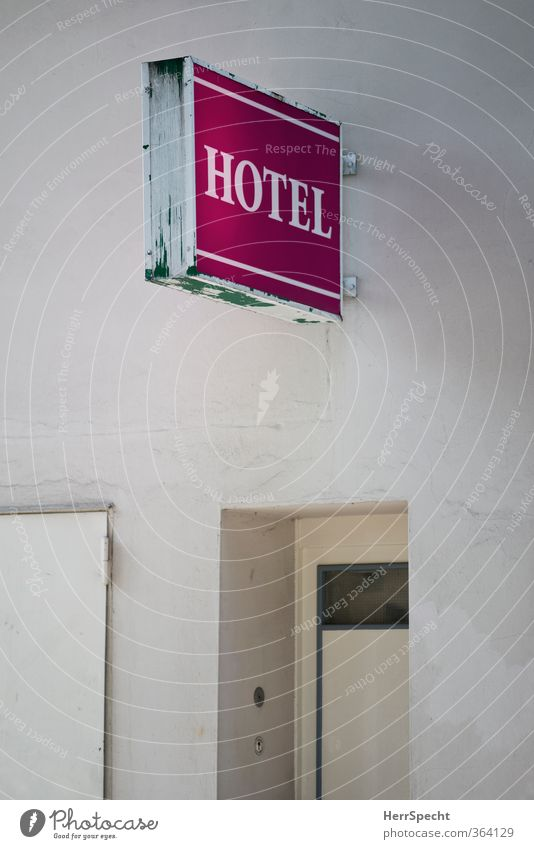 HOTEL Berlin Town House (Residential Structure) Manmade structures Building Wall (barrier) Wall (building) Door Characters Signs and labeling Old Gloomy Pink