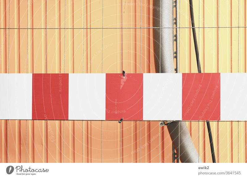 Eye-catching Container cordon signal colour Bright Colours Orange Red White urban Colour photo Exterior shot Contrast Detail Structures and shapes Deserted Tin