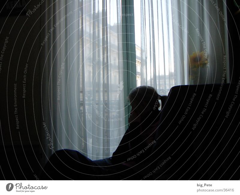 Woman Calm Window Room Thought