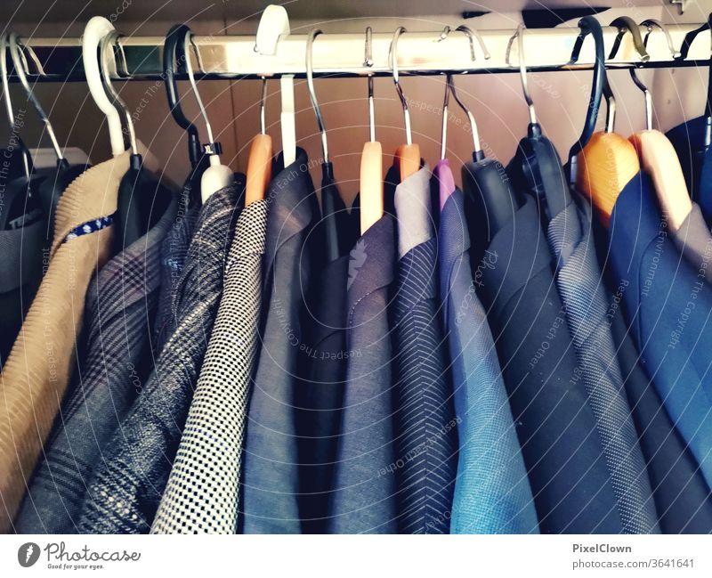 Jackets in all colours Jacket, suit, wardrobe, clothes, Clothing Hanger Design Suit, Colour photo Lifestyle