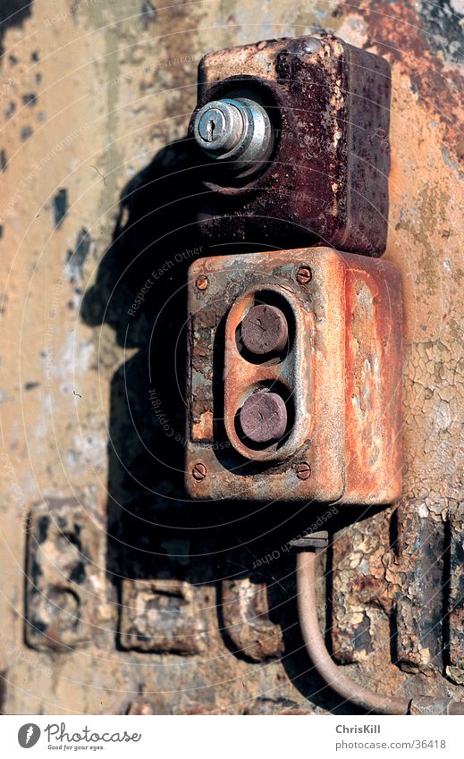 Old Metal Industry Cable Rust Electrical equipment