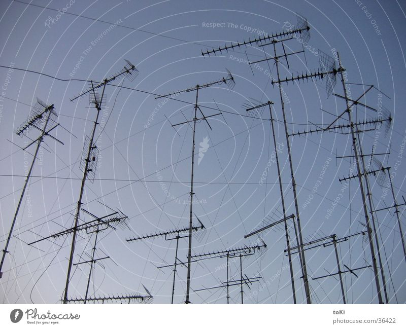 radio Antenna Afternoon Italy Sunset TV set Electrical equipment Technology Communicate Blue Sky Net Brindisi province southern italy Digital photography